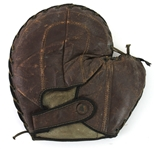 1900s-10s Game Used First Basemans Mitt (MEARS LOA)