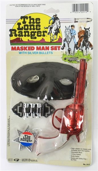 1989 The Lone Ranger MOC Masked Man Play Set w/ Silver Bullets