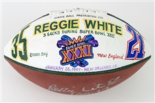 1997 Reggie White Green Bay Packers Signed ONFL Tagliabue Super Bowl XXXI Presentation Football (MEARS LOA/JSA)