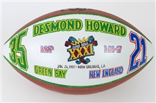 1997 Desmond Howard Green Bay Packers Signed ONFL Tagliabue Super Bowl XXXI MVP Painted Football (MEARS LOA/JSA)