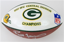 1997 Brett Favre Green Bay Packers Signed ONFL Tagliabue NFC Central Division Champions Painted Football (MEARS LOA/JSA)