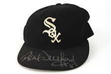 1997-98 Ray Durham Chicago White Sox Signed Game Worn Cap (MEARS LOA/JSA)