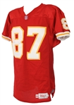 1996 Tamarick Vanover Kansas City Chiefs Signed Game Worn Home Jersey (MEARS A10/JSA)