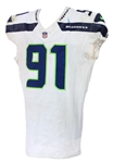 2017 (October 8) Sheldon Richardson Seattle Seahawks Game Worn Road Jersey (MEARS A10/Team COA)
