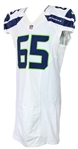 2015 Patrick Lewis Seattle Seahawks Game Worn Road Jersey (MEARS A10/Team COA)