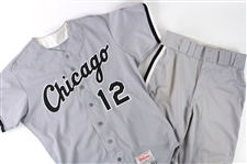 1993 Mike Huff Chicago White Sox Game Worn Road Uniform (MEARS LOA)