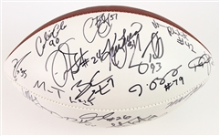 2009 Seattle Seahawks Multi Signed ONFL Goodell Autograph Panel Football w/ 25 Signatures Including Lofa Tatupu, Marcus Trufant, TJ Houshmandzadeh & More (*JSA Full Letter*)