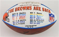 "1999 Tim Couch Cleveland Browns Signed ONFL Tagliabue ""The Browns Are Back"" Presentation Football (MEARS LOA/JSA) 14/16"