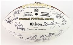 2008 Seattle Seahawks Multi Signed ONFL Tagliabue Autograph Panel Football w/ 29 Signatures Including Walter Jones, Marcus Trufant, Deion Branch & More (*JSA Full Letter*)