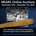 1952-60 Mickey Mantle New York Yankees H&B Louisville Slugger Professional Model Bat (MEARS A7 & PSA/DNA)