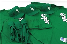 1998 Brian Simmons Chris Snopek Robert Machado Chicago White Sox St. Patrickss Day Game Worn Collection - Lot of 9 w/ Signed Jerseys, Signed Caps & Stirrups (MEARS LOA/JSA)