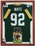 "1990s Reggie White Green Bay Packers 33"" x 43"" Framed Signed Jersey Display (JSA)"
