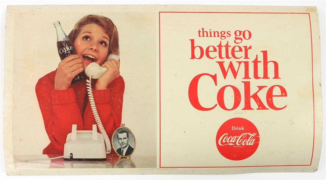 "1960s Coca Cola 20"" x 36"" Things Go Better With Coke Broadside"