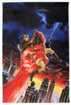 "1989 The Rocketeer 23.5"" x 36"" Comico Series #3 Poster"