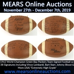 "1962 World Champion Green Bay Packers Team Signed Football w/ 38 Signatures Including Vince Lombardi, Bart Starr, Johnny Blood & More (JSA) ""Extremely High Grade"""