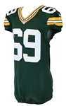 2013-17 David Bakhtiari Green Bay Packers Signed Game Worn Home Jersey (MEARS A5/Packers COA)