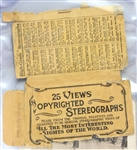 "1914-18 WWI 3.25"" x 7"" Stereograph Photo Cards - Set of 25 w/ Original Wrapper"