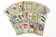 1963 Topps Midgee Flag Trading Cards - Lot of 62