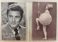 "1920s-60s Movie Star 3.25"" x 5.25"" Photo Cards - Lot of 22 w/ Kirk Douglas, Gene Autry, Ricardo Montalban & More"