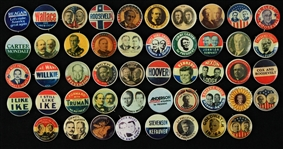 "1980s Political 3/4"" Pinback Button Collection - Lot of 48"
