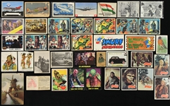 1910s-80s Non Sports Trading Card Collection - Lot of 50+ w/ Zira Cigarette Indian Silks, Batman, Planet of the Apes, Smurfs, Aviation & More
