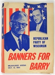"1964 Barry Goldwater ""Banners For Barry"" Milwaukee Arena Presidential Campaign Guide"