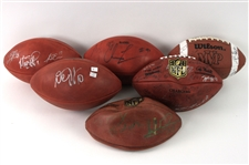 2000s Multi Signed Football Collection - Lot of 6 w/ Super Bowl LI & More