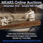 1920-30 circa Babe Ruth New York Yankees H&B Louisville Slugger Professional Model Bat (MEARS A5 & PSA/DNA)