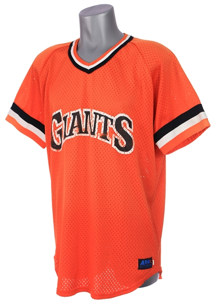 1983 Chili Davis San Francisco Giants Batting Practice Jersey (MEARS LOA) First BP Jersey Style in Franchise History