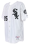 2000 Jeff Abbott Chicago White Sox Postseason Home Jersey (MEARS LOA)