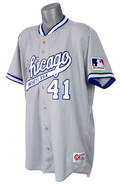 1999 (July 19) Bill Simas Chicago White Sox Game Worn 1969 Throwback Road Uniform w/ Pants, Cap, Stirrups & Shoelaces (MEARS LOA)