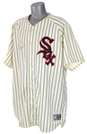 2005 (June 18) AJ Pierzynski Chicago White Sox Signed Game Worn 1959 Throwback Home Uniform (MEARS A10/JSA) Walk Off Home Run
