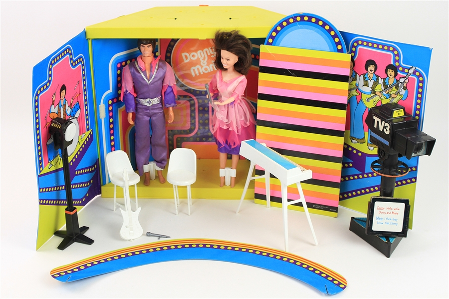 1976 Donny & Marie Osmond TV Show Mattell Play Set