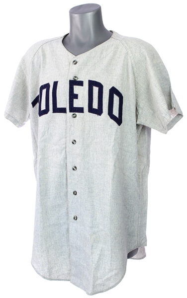 1967-73 Toldeo Mud Hens Game Worn Road Jersey w/ Indians Pants (MEARS LOA)