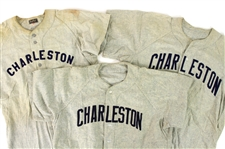 1952-59 Charleston Rebels/ChaSox Game Worn Road Jerseys - Lot of 3 (MEARS LOA)