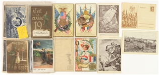 "1910s-40s WWI WWII Military 3.5"" x 5.5"" Postcard Collection - Lot of 300+"