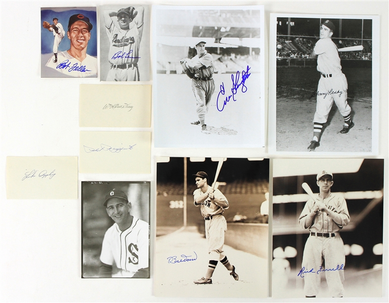1950s-90s Baseball Signed Photo Index Card & Postcard Collection - Lot of 20 w/ Rick Ferrell, Frank Robinson, Luke Appling, Monte Irvin & More (JSA)