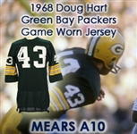 1968 Doug Hart Green Bay Packers Signed Game Worn Home Jersey (MEARS A10/JSA) w/ Team Repairs