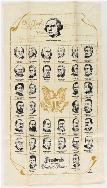 "1960s Presidents of the United States 16.5"" x 30"" Tapestry"
