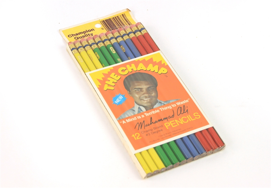 "1970s Muhammad Ali ""The Champ"" MOC #2 Pencils - Pack of 12"