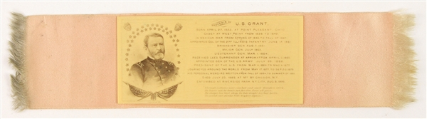 "1885 Ulysses S. Grant 18th President of the United States 11"" Memorial Ribbon"