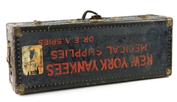 "1934-36 Edwin A. Spies New York Yankees Team Physician 15.5"" x 39"" x 10.5"" Medical Supply Travel Trunk (MEARS LOA)"