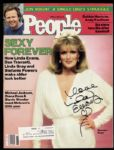 1983 Linda Evans Dynasty Signed People Magazine (JSA)