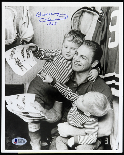 "1965 Bobby Hull Chicago Blackhawks Signed 8"" x 10"" Original Photo (Beckett Authentication)"