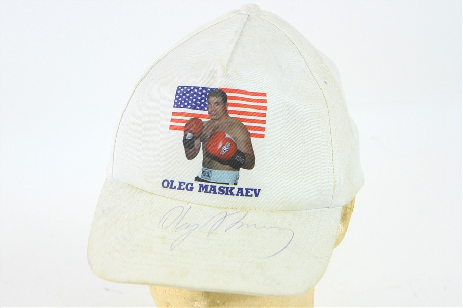 2006-08 Oleg Maskaev World Heavyweight Champion Signed Cap