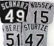 1993-2000 Chicago White Sox Game Worn Jerseys - Lot of 9 w/ 3 Signed Including Jason Bere, Chris Singleton & Donn Pall (MEARS LOA/JSA)