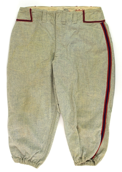 1938 Bill Dietrich Chicago White Sox Game Worn Road Uniform Pants (MEARS LOA)