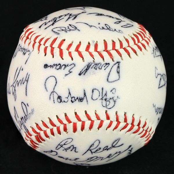 1975 Atlanta Braves Team Signature Stamped Baseball