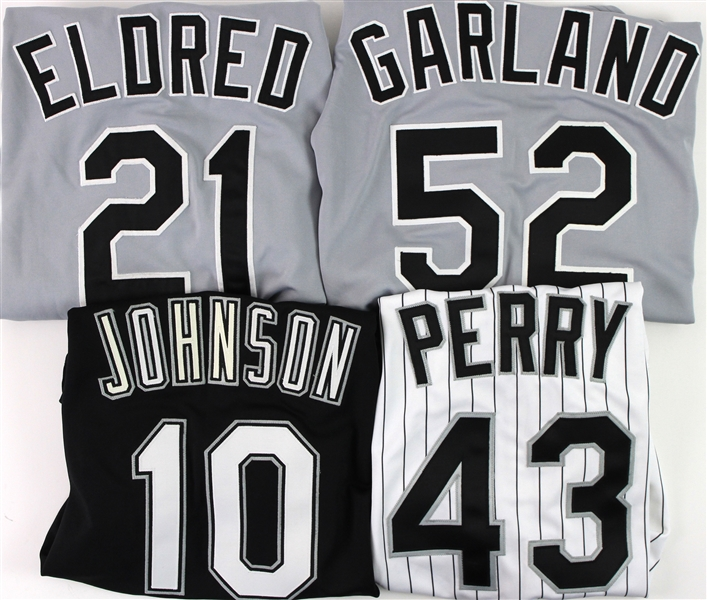 2000 Chicago White Sox Game Worn Jerseys - Lot of 4 w/ Jon Garland Signed, Cal Eldred, Herbert Perry & More (MEARS LOA)