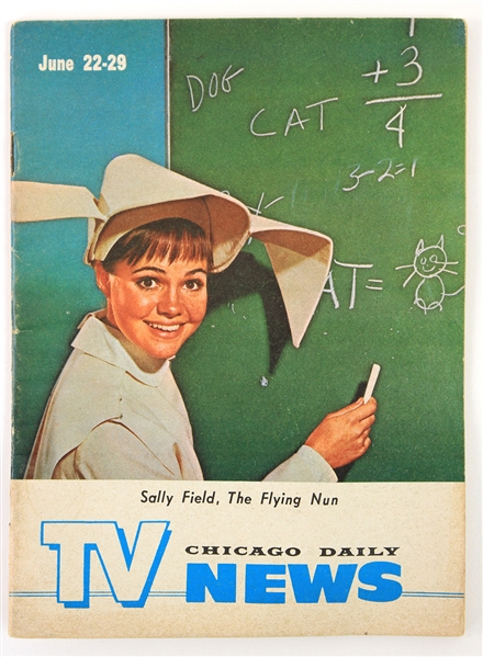 1968 Sally Field Flying Nun Chicago Daily News TV Guide